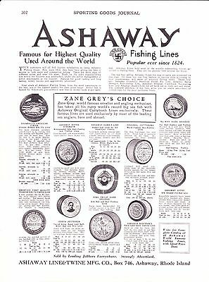 1930 Sporting Goods Journal Ads~Vintage Ashaway RI Fishing Lines~Converse Rubber