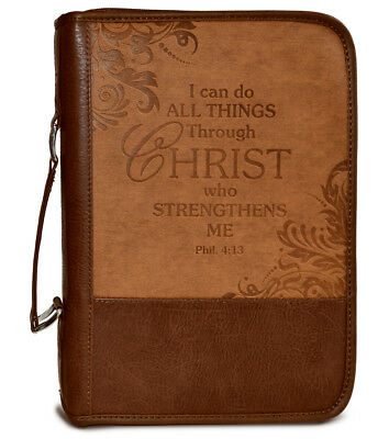 Bible Cover-Heat Stamp I CAN-Brown-Medium