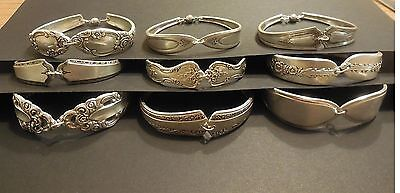 Vintage Silver Plated Hand Crafted Silverware Bracelets - Lot of 10 with Charms