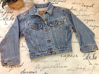 Levi's Vintage White Tag Youth Size Small Light Wash USA Jean Jacket VGC