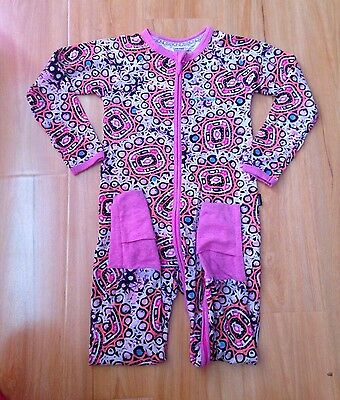 "Bonds Zippy Wondersuit Rare ""Dancing Mirror"" Size 3 - EUC"