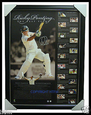 Ricky Ponting Test Matches Retirement Signed Print Framed - OFFICIAL ACB RRP$695
