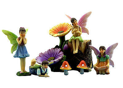 Fairy Garden Kit With Miniature Fairies & Accessories - Colorful Supplies