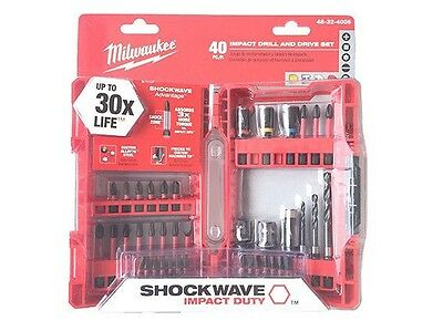 Milwaukee 40pc Impact Drill And Driver Set 48-32-4006