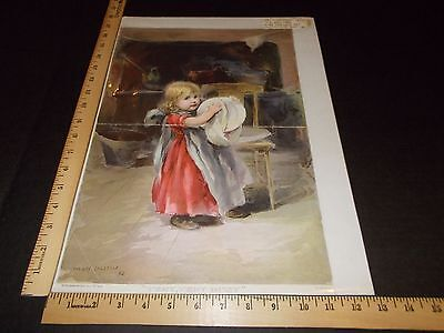 Rare Antique Orig VTG 1893 NY Recorder Very Very Busy H Ihlefeld Litho Art Print