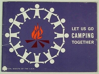 Let Us Go Camping Together Girl Scouts Book 1960