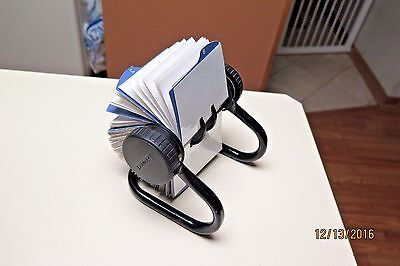 Rolodex Open Rotary Business Card File with 500 2-1/4 x 4 Inch Cards Never Used