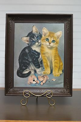 "Vintage Girard Cat Picture Print Large 17"" X 14"""