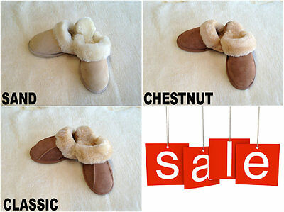 Amazing Australian Sheepskin Lambskin Womens/Mens/Ladies Slipper Soft Wool DFO