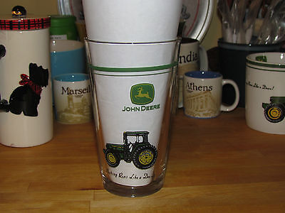 JOHN DEERE TRACTOR Drinking Glass - Nothing Runs Like a Deere! – Beer Glass Barw