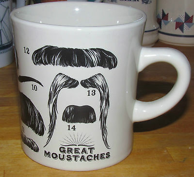 GREAT MOUSTACHES Coffee Cup – Unemployed Philosophers Guild Mug