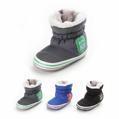 3 Colors Baby Boy Girl Winter Snow Booties Soft Crib Shoes Warm Boots 0-18 Month
