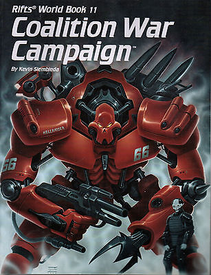 RIFTS WORLD BOOK 11: COALITION WAR CAMPAIGN - Kevin Siembieda  - 1996  1st