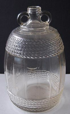 Vintage 1935 Double-Handled 1 Gallon Corded Roped Design Glass Wine Jug