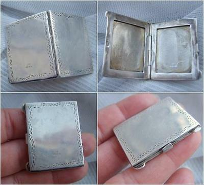 Novelty 925 Birm Import 1995 Sterling SILVER Miniature PHOTO Frame Locket Case