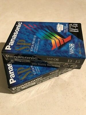 2 x Panasonic EC-45 SP Super Premium VH-C video cassette Tape New in Packets