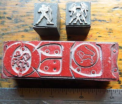 Letterpress Printing Printer Block Press Wood Type Aquarius Leo Gemini Zodiac