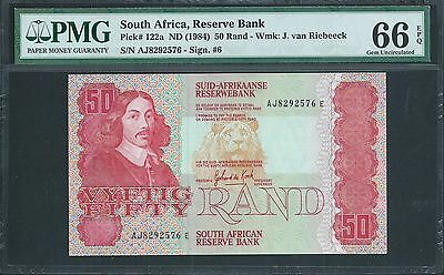 SOUTH AFRICA 50 Rand P122a ND 1981 GEM UNCIRCULATED PMG 66 EPQ