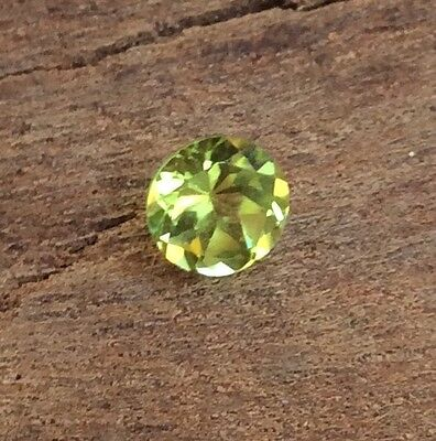 Round Cut Shape Natural Peridot 6Mm Faceted 1 Pc Loose Gemstone
