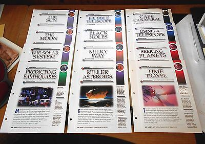 Secrets of the Universe - Lot of 12 Insert Cards -Cosmos, Moon, Sun, Black Holes