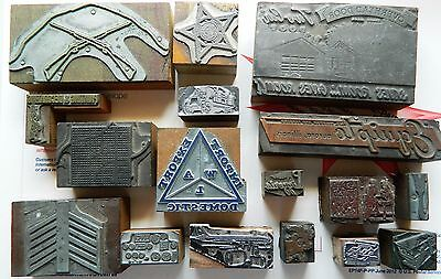 Letterpress Printing Printer Block Press Wood Metal Type Sheriff Plane Controls