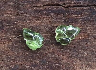 Carved Natural Peridot 1 Pc Loose Gemstone