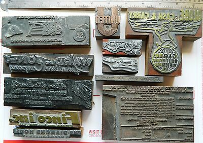 Letterpress Printing Printer Block Press Wood Metal Type Blood Bank Machinery