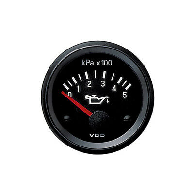 VDO Cockpit Vision Electric Oil Pressure Gauge 500kpa 12v 52mm