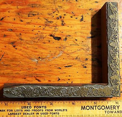 Letterpress Printing Printer Block Press Wood Metal Type Corner Border Flourish