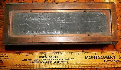 Letterpress Printing Printer Block Press Wood Metal Type Copper Frame Border Big
