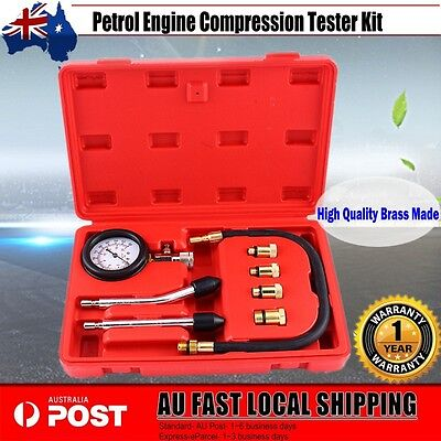 Petrol Engine Compression Tester Kit Set For Automotives and Motorcycles AU