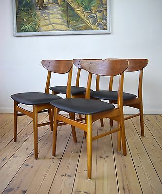 Danish Teak & Beech Dining Chairs