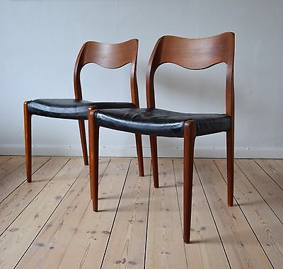 Danish Niels O. Møller #71 Dining Chairs.