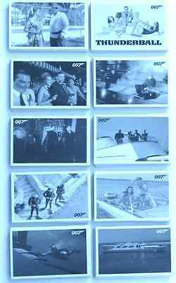 James Bond Archives 2014 Ultra Hard To Find Thunderball Throwback Set Of Cards