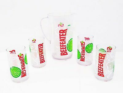 Collectible Retired Beefeater Gin Pitcher & Tumbler Set by Rubbermaid Bar Set