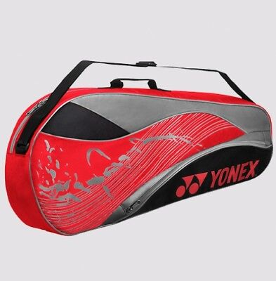 YONEX 3 Tennis/4 Badminton Racket Racquet Bag 4823EX, Red, 2018 New