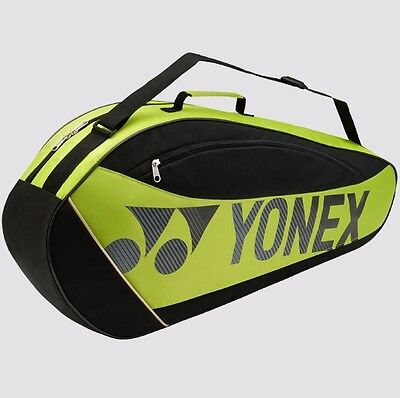 YONEX Club Series Racquet Bag 5723EX (3-Pcs) w/Shoe Compartment, Lime, 2017 New