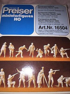 Preiser 16504 SOLDIERS ,German Reich 1942 Armoured Infantry Military,H0 1:87