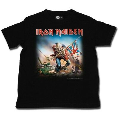 Iron Maiden Trooper Kids Officl Boys Girls Toddler Tshirt 2-15 Years T-shirt Top