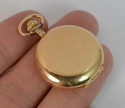 14ct Gold Full Hunter Ladies Pocket or Fob Watch with Plain Design t0892