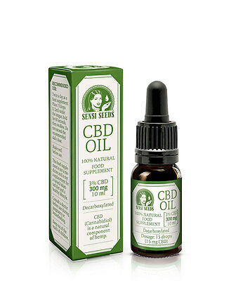 OLIO DI CBD SENSI SEEDS CBD OIL 10 ml 300 mg top Cannabis Liquido Rimedio Natura