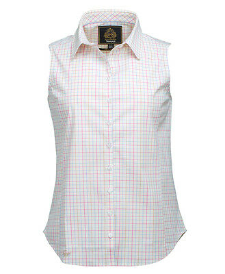 Toggi Fratello Ladies Sleeveless Check Horse Riding Shirt - Sale