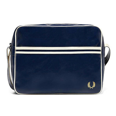 Fred Perry Classic Unisex Bags Navy White