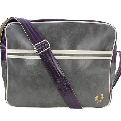 Fred Perry Classic Unisex Bags Grey Purple