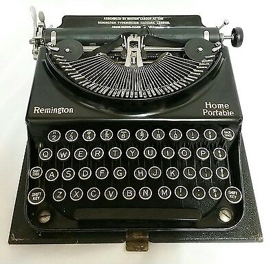 Vintage Remington Home Portable Typewriter 1930's In Original Case