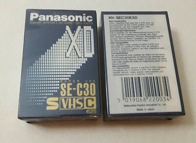 Cinta Panasonic Xd Super Vhs Compact Nv-Sec30Exd Precintada Svhs Made In Japon