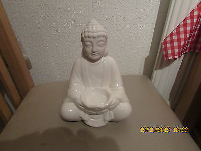 """Latex Mould Of A Thai Buddha  With A """"t"""" Light Holder 7"""" Tall"""