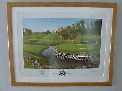 Ryder Cup 2008 Signed Print by Graeme Baxter and Sir Nick Faldo