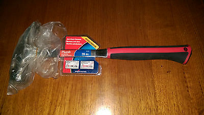 COOPER HAND TOOLS PLUMB SS28R ANTI-SHOCK FRAMING CLAW HAMMER 28 Oz - SOLID STEEL