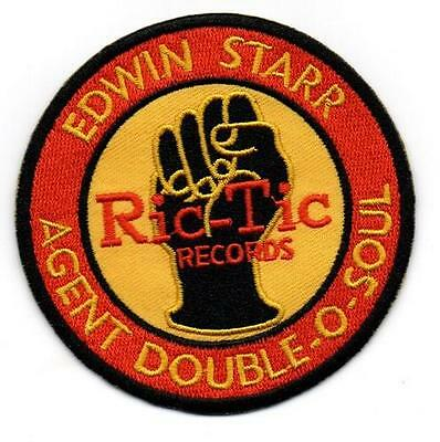 Edwin Starr Agent Double -O-Soul -Ric Tic Records New Sew On Patch Northern Soul